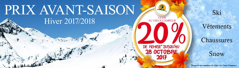 Prix Avans-Saison Hiver 2017