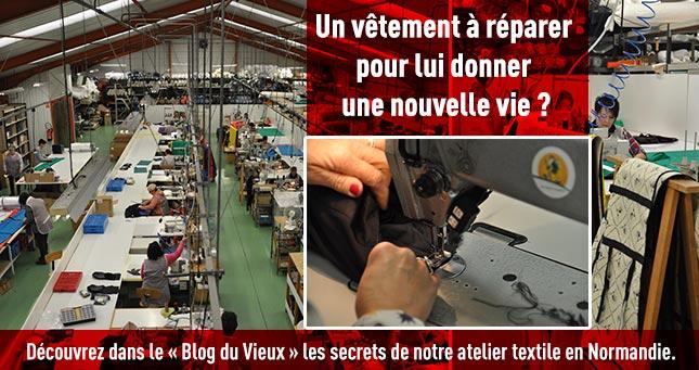 Notre atelier textile en Normandie.