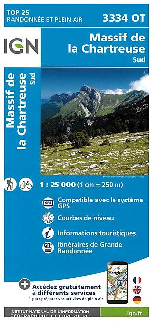 TOP25 3334OT MASSIF CHARTREUSE SUD 1 25 000