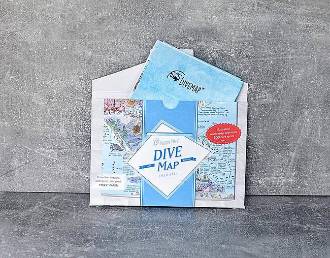 POSTER DIVE MAP FOLDABLE