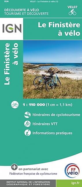 LE FINISTERE A VELO ECHELLE 1 110 000