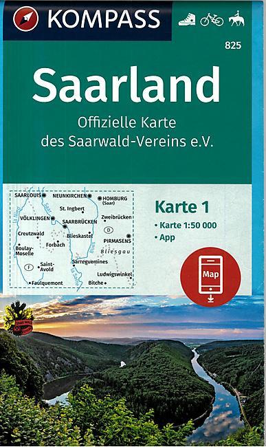 N°825 SAARLAND 1.50.000