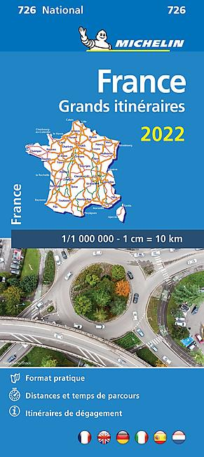 726 FRANCE GRANDS ITINERAIRES 1 1 000 000