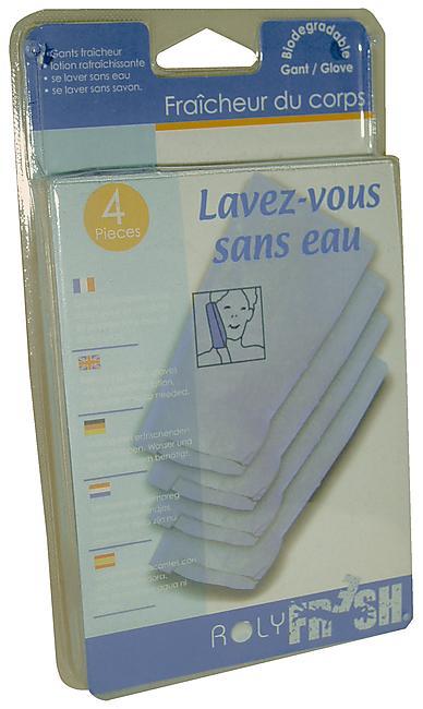 GANTS LAVEZ VOUS SANS EAU FRAICHEUR X 4