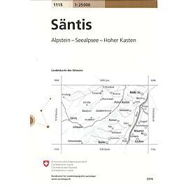 1115 SANTIS  ECHELLE 1.25.000