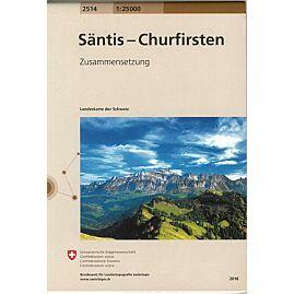 2514 SANTIS CHURFIRSTEN  ECHELLE 1.25.000