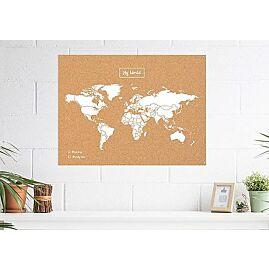 CARTE MY WORLD LIEGE NATUREL BLANC L 60 X 45