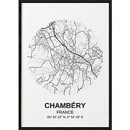 POSTER CARTE CHAMBERY