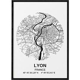 POSTER CARTE LYON