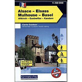 2 ALSACE ELSASS MULHOUSE ECHELLE 1 50 000
