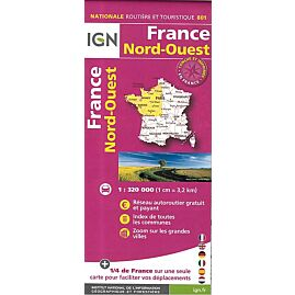 801 FRANCE NORD OUEST ECHELLE 1.320.000