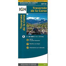 TRAVERSEE DE LA CORSE GR20 1 50 000