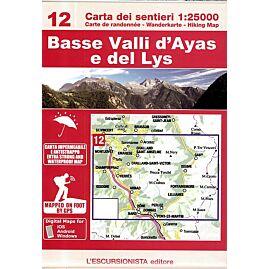 12 BASSE VALLI D'AYAS E DEL LYS 1.25.000