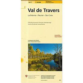 241T VAL DE TRAVERS  ECHELLE 1.50.000