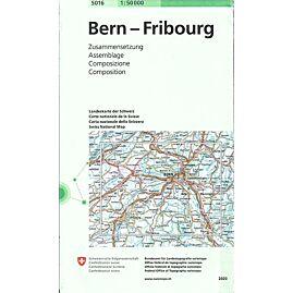5016 BERN FRIBOURG  ECHELLE 1 50 000