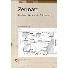 1348 ZERMATT  ECHELLE 1.25.000