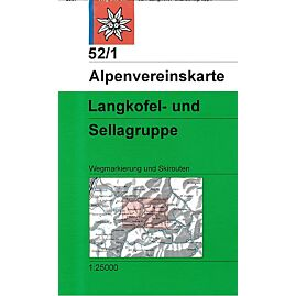 52.1 LANGKOFEL SELLAGRUPPE 1.25.000