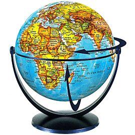GLOBE 15CM POLITIQUE TOURNANT BASCULANT