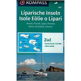 693 ISOLE EOLIE O LIPARI 1.25.000