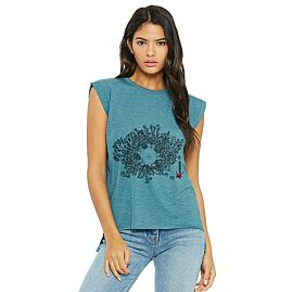 T-SHIRT MANCHES ROULOTTEES GORGO FEMME