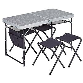 TABLE VALISE + 4 TABOURETS