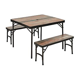 TABLE VALISE + 2 BANCS INTEGRES