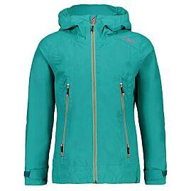 CMP IMPERMEABLE Fonction Veste Girl Jacket Fix Hood Vert Coupe-vent