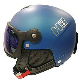 CASQUE DE SKI H3 + VISIERE MULTIPLAYER blue/noir
