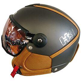 CASQUE DE SKI H3 + VISIERE orange mirror/noir