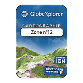 TOPO GLOBEXPLORER 1/25e FRANCE ZONE 12 DOM TOM