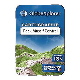 TOPO GLOBEXPLORER IGN 1/25000e PACK MASSIF CENTRAL