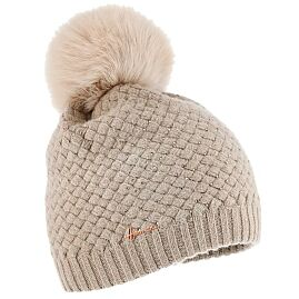 BONNET POMPON LOUISE STRASS