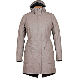 LAMINATED WOOL W MANTEAU