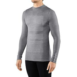 T-SHIRT ML COL CHEMINEE WOOL TECH COMFORT  M