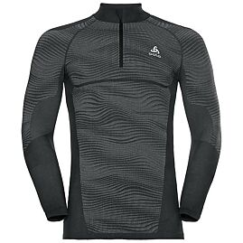 TEE-SHIRT ML COL ZIPPE TOP 1/2 ZIP BLACKCOMB