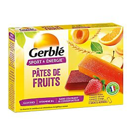 BARRES PATES DE FRUITS GERBLE X6