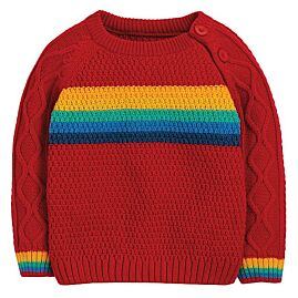 PULL COL ROND CALEB CABLE KNIT JUMPER