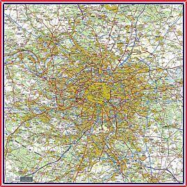 FOULARD PARIS ET ALENTOURS  1/100 000