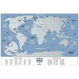 CARTE A GRATTER MONDE WEEK END 60CM X 40CM