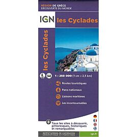 IGN LES CYCLADES 1 250 000