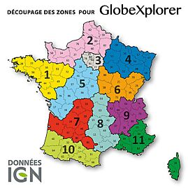 TOPO GLOBEXPLORER IGN 1/25000e FRANCE ZONE 1