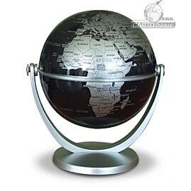 GLOBE TOURNANT ARGENT POLITIQUE 10CM