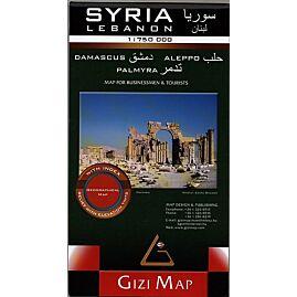 SYRIE ET LIBAN ECHELLE 1.750.000 E.GIZI