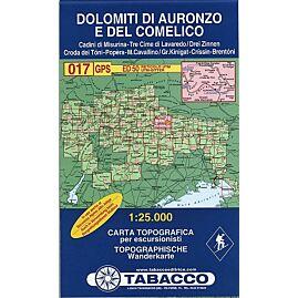17 DOLOMITI DI AURONZO 1 25 000