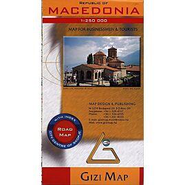 MACEDOINE ECHELLE 1.250.000 E.GIZI