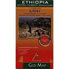 ETHIOPIE ECHELLE  1.2.000.000 E.GIZI