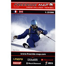 FREERIDE TROIS VALLEES MERIBEL 1.25.000