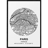 POSTER CARTE PARIS