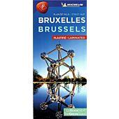 PLAN DE VILLE BRUXELLES PLASTIFIE