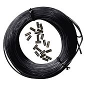 KIT 25M MONO-FIL NYLON + 10PCS SLEEVE NOIRES